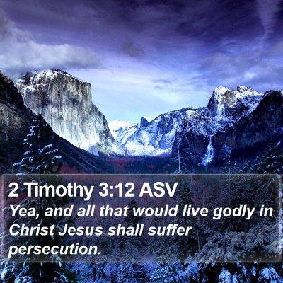 2 Timothy 3:12 ASV Bible Verse Image