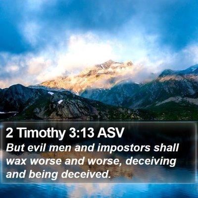 2 Timothy 3:13 ASV Bible Verse Image