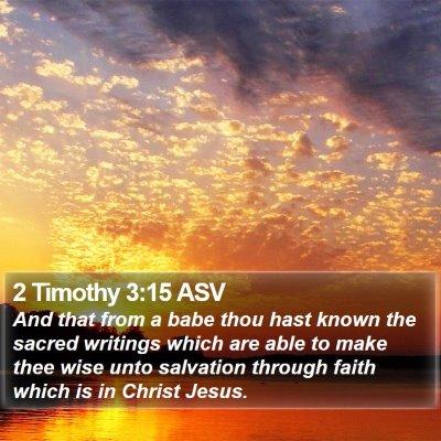 2 Timothy 3:15 ASV Bible Verse Image