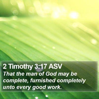 2 Timothy 3:17 ASV Bible Verse Image