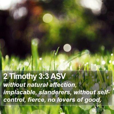 2 Timothy 3:3 ASV Bible Verse Image