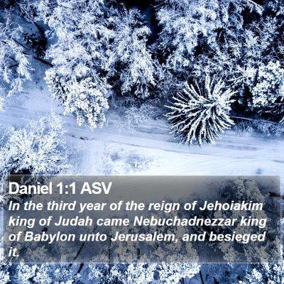 Daniel 1:1 ASV Bible Verse Image