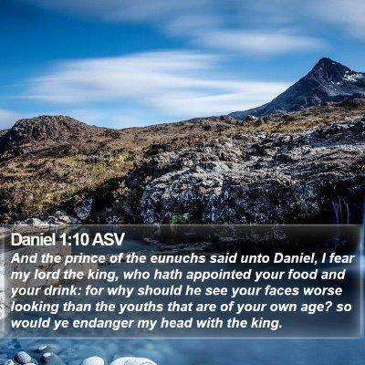 Daniel 1:10 ASV Bible Verse Image