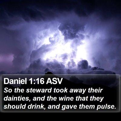 Daniel 1:16 ASV Bible Verse Image