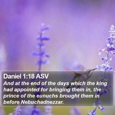 Daniel 1:18 ASV Bible Verse Image