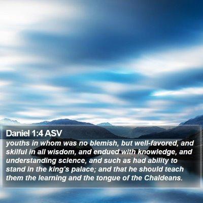 Daniel 1:4 ASV Bible Verse Image