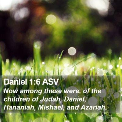 Daniel 1:6 ASV Bible Verse Image