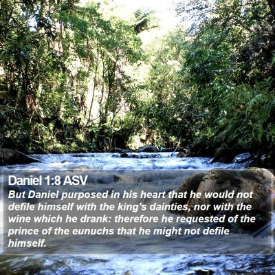 Daniel 1:8 ASV Bible Verse Image