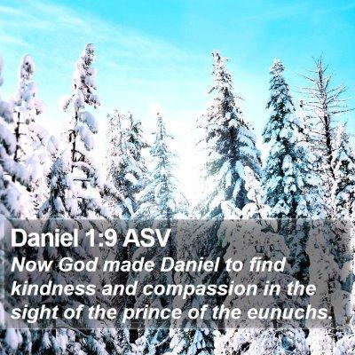 Daniel 1:9 ASV Bible Verse Image