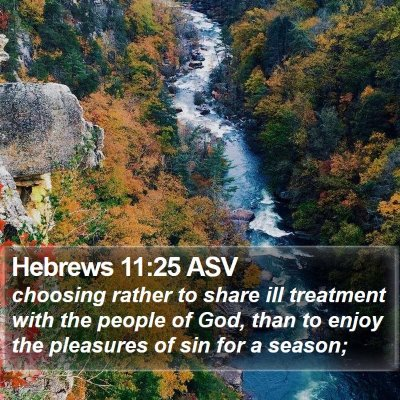 Hebrews 11:25 ASV Bible Verse Image