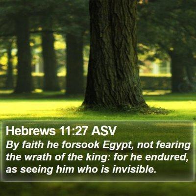 Hebrews 11:27 ASV Bible Verse Image