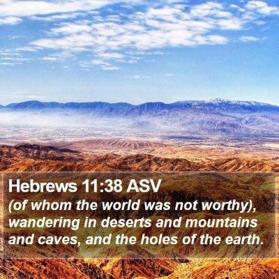Hebrews 11:38 ASV Bible Verse Image