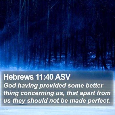 Hebrews 11:40 ASV Bible Verse Image