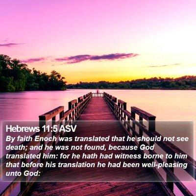 Hebrews 11:5 ASV Bible Verse Image