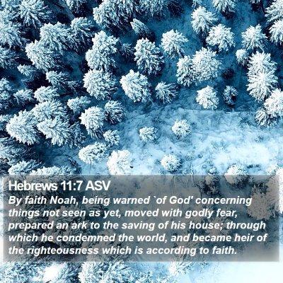 Hebrews 11:7 ASV Bible Verse Image