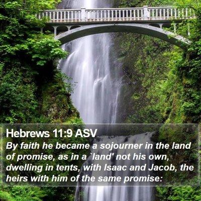 Hebrews 11:9 ASV Bible Verse Image