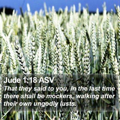 Jude 1:18 ASV Bible Verse Image