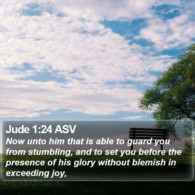 Jude 1:24 ASV Bible Verse Image