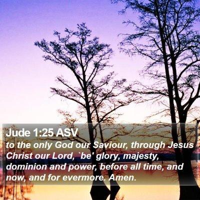 Jude 1:25 ASV Bible Verse Image
