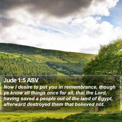 Jude 1:5 ASV Bible Verse Image