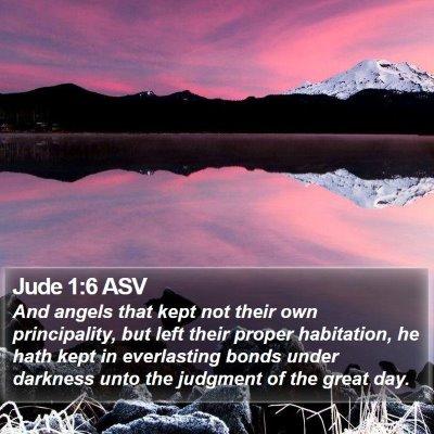 Jude 1:6 ASV Bible Verse Image