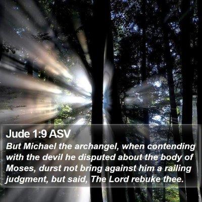Jude 1:9 ASV Bible Verse Image
