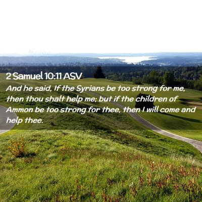 Picture 02 - 2 Samuel 10:11 ASV - And he said, If the Syrians be too strong for me, - Bible Verse Picture