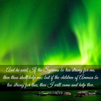 Picture 03 - 2 Samuel 10:11 ASV - And he said, If the Syrians be too strong for me, - Bible Verse Picture