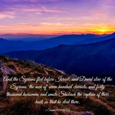 Picture 03 - 2 Samuel 10:18 ASV - And the Syrians fled before Israel; and David - Bible Verse Picture