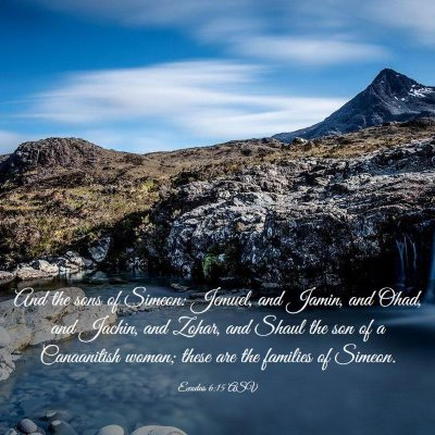 Picture 03 - Exodus 6:15 ASV - And the sons of Simeon: Jemuel, and Jamin, and - Bible Verse Picture