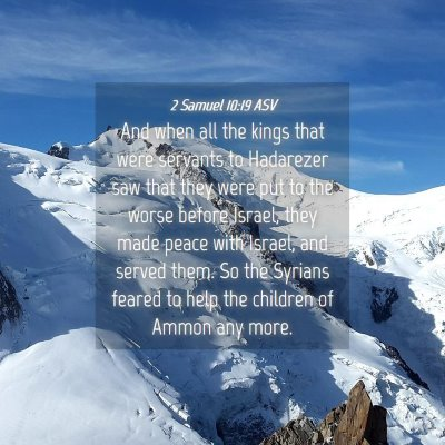Picture 04 - 2 Samuel 10:19 ASV - And when all the kings that were servants to - Bible Verse Picture