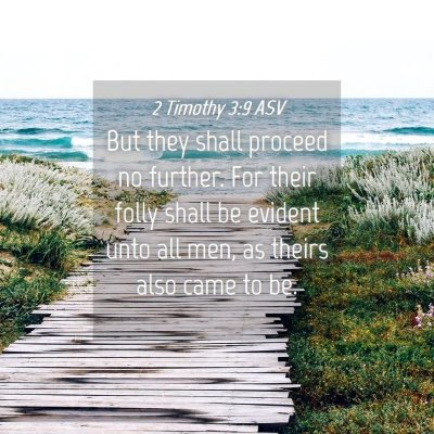 Picture 04 - 2 Timothy 3:9 ASV - But they shall proceed no further. For their - Bible Verse Picture