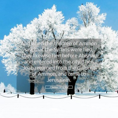 Picture 05 - 2 Samuel 10:14 ASV - And when the children of Ammon saw that the - Bible Verse Picture