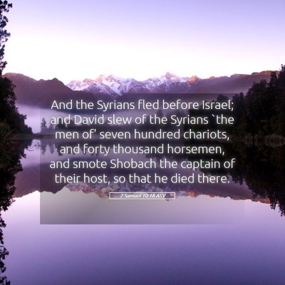Picture 05 - 2 Samuel 10:18 ASV - And the Syrians fled before Israel; and David - Bible Verse Picture