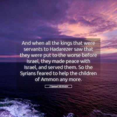 Picture 05 - 2 Samuel 10:19 ASV - And when all the kings that were servants to - Bible Verse Picture