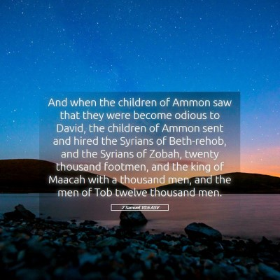 Picture 05 - 2 Samuel 10:6 ASV - And when the children of Ammon saw that they were - Bible Verse Picture