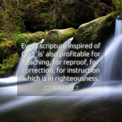 Picture 05 - 2 Timothy 3:16 ASV - Every scripture inspired of God `is' also - Bible Verse Picture