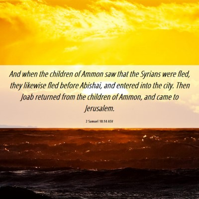 Picture 06 - 2 Samuel 10:14 ASV - And when the children of Ammon saw that the - Bible Verse Picture
