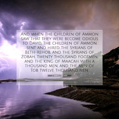 Picture 07 - 2 Samuel 10:6 ASV - And when the children of Ammon saw that they were - Bible Verse Picture