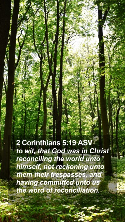 2 Corinthians 5:19 ASV Mobile Phone Wallpaper - to wit, that God was in Christ reconciling the - Mobile Bible Verse Wallpaper
