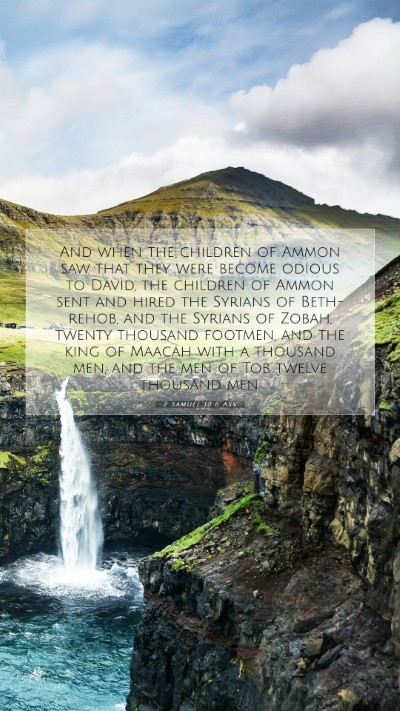Picture 07 - 2 Samuel 10:6 ASV Mobile Phone Wallpaper - And when the children of Ammon saw that they were - Mobile Bible Verse Wallpaper