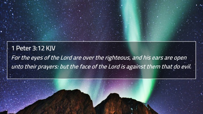 1 Peter 3:12 KJV 4K Wallpaper - For the eyes of the Lord are over the righteous - 4K Bible Verse Wallpaper