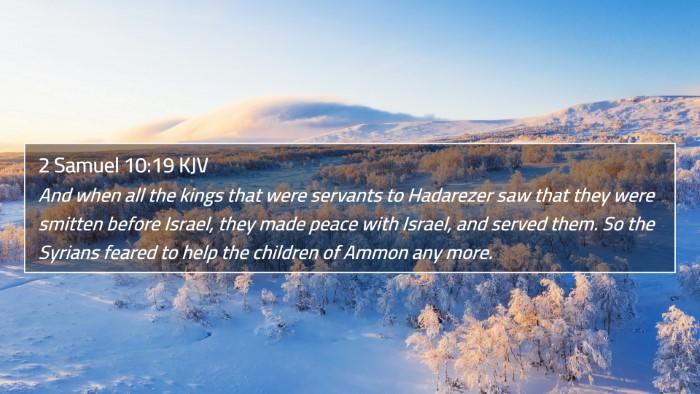 2 Samuel 10:19 KJV 4K Wallpaper - And when all the kings that were servants to - 4K Wallpaper Bible Verse