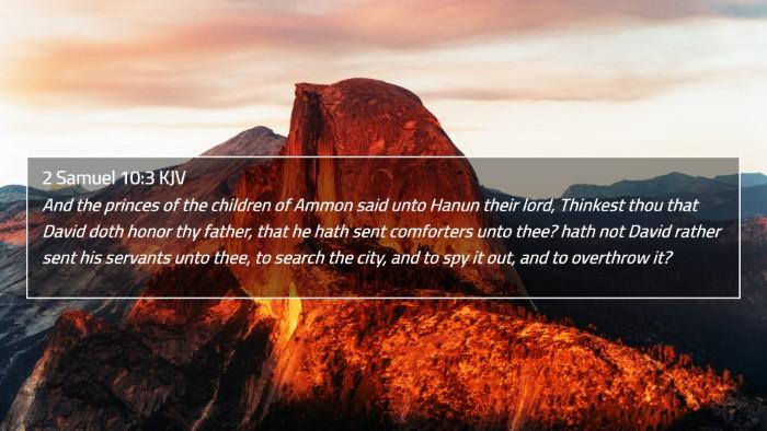 2 Samuel 10:3 KJV 4K Wallpaper - And the princes of the children of Ammon said - 4K Wallpaper Bible Verse