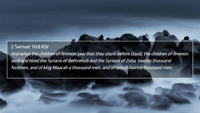 2 Samuel 10:6 KJV 4K Wallpaper - And when the children of Ammon saw that they - 4K Wallpaper Bible Verse