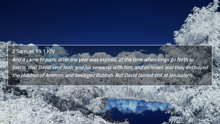 2 Samuel 11:1 KJV 4K Wallpaper - And it came to pass, after the year was expired, - 4K Wallpaper Bible Verse