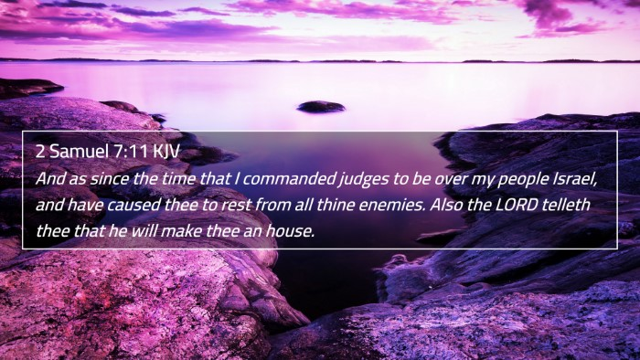 2 Samuel 7:11 KJV 4K Wallpaper - And as since the time that I commanded judges to - 4K Wallpaper Bible Verse