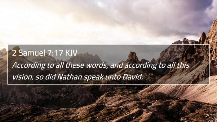 2 Samuel 7:17 KJV 4K Wallpaper - According to all these words, and according to - 4K Wallpaper Bible Verse