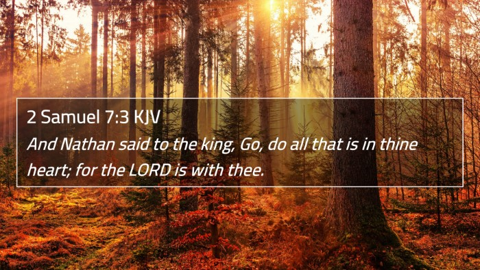 2 Samuel 7:3 KJV 4K Wallpaper - And Nathan said to the king, Go, do all that is - 4K Wallpaper Bible Verse