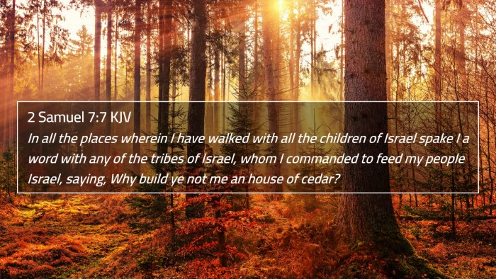 2 Samuel 7:7 KJV 4K Wallpaper - In all the places wherein I have walked with all - 4K Wallpaper Bible Verse